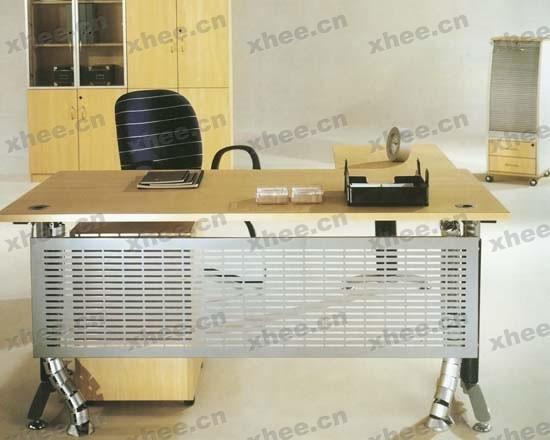 北京办公家具网提供生产简洁原木经理台厂家